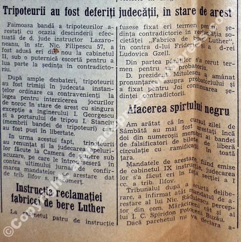 Faimoasa bandă a tripoteurilor arestaţi eri (...) a fost adusă sub o puternică escortă