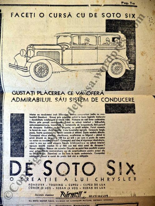 Reclamele la automobilele anilor 20